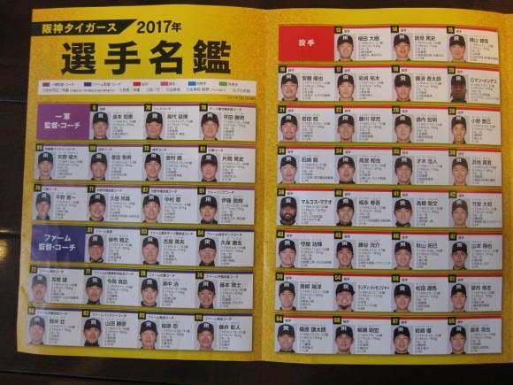 阪神タイガース沖縄キャンプ選手名簿